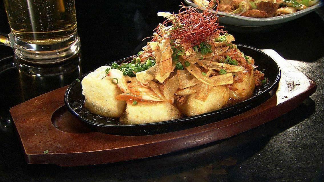 鉄板豆腐ステーキ